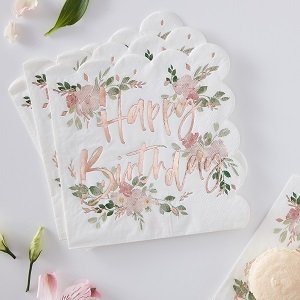 anniversaire-adulte-theme-fleurs-bohemes-serviettes-happy-birthday