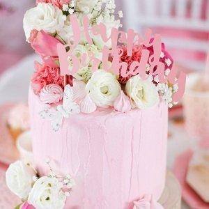 anniversaire-adulte-theme-rose-et-or-deco-gateau