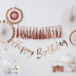 anniversaire-adulte-theme-rose-gold-guirlandes-rosaces-deco-table