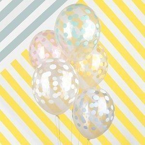 ballons-anniversaire-enfant-imprimes-latex-ballons-transparents-pois