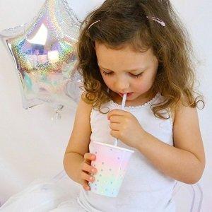 anniversaire-theme-cygne-irise-gobelets