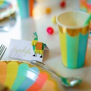 anniversaire-enfant-theme-multicolore-assiettes-gobelets-multicolores
