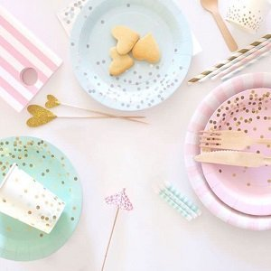 anniversaire-enfant-theme-pastel-decoration-table-pastel-assiettes
