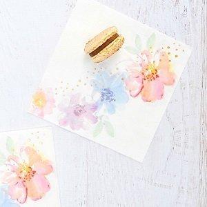 anniversaire-enfant-theme-fleurs-pastels-serviettes