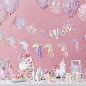 Déco anniversaire Licorne magique guirlande ballon
