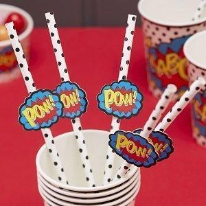 accessoires-deco-table-anniversaire-garcon-pailles-en-papier-super-heros