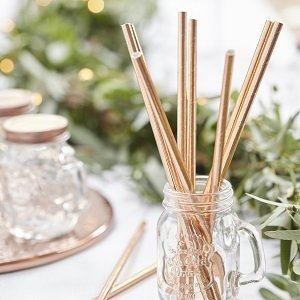 pailles-bapteme-decoration-de-table-bapteme-pailles-rose-gold