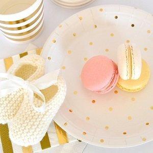 bapteme-blanc-or-vaisselle-jetable