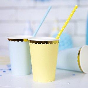 bapteme-bleu-or-gobelets