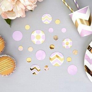 bapteme-pastel-parme-et-dore-confettis-de-table