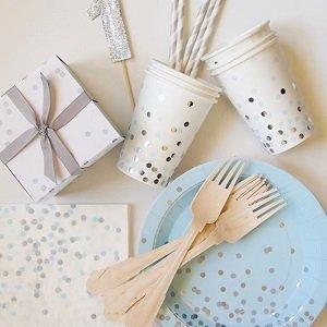 anniversaire-garcon-theme-bleu-argent-assiettes-gobelets-serviettes