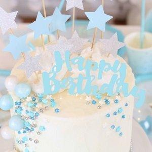 anniversaire-garcon-theme-bleu-argent-deco-gateau