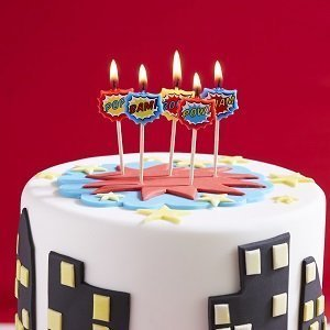 anniversaire-theme-super-heros-bougies