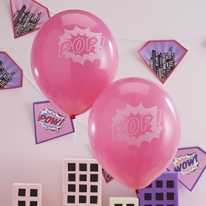 anniversaire-theme-super-heros-fille-ballons-pop