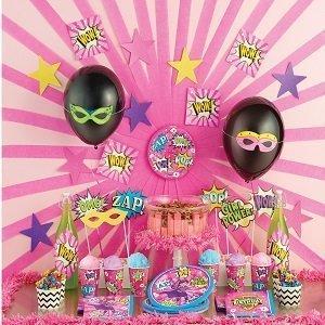 anniversaire-theme-super-heros-fille-deco-de-table