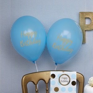 anniversaire-bleu-or-ballons-happy-birthday
