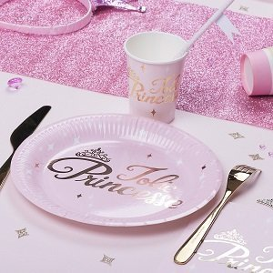 anniversaire-fille-theme-princesse-rose-or